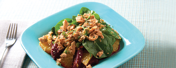 Citrusy Beet Salad With Salmon