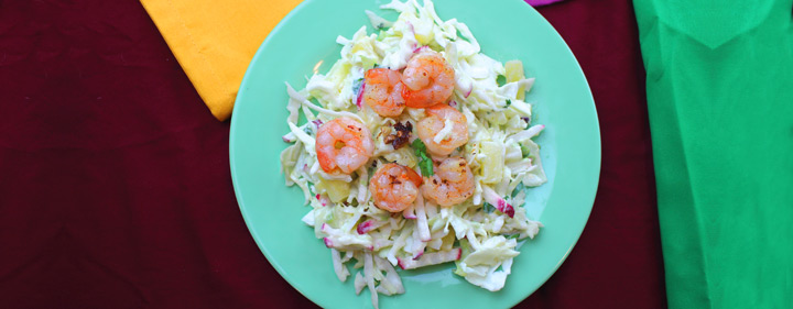 Naked Shrimp Taco with Pineapple