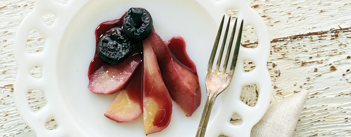 Mulled Wine Poached Fruit
