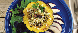 Stuffed Acorn Squash With Rice Pilaf